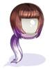 コスたまHairCollectionIII(黒白紅紫)
